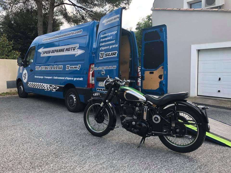 transport de moto ancienne sur la france et europe